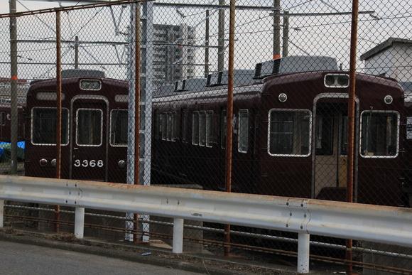 阪急正雀レポ 堺筋線66系 66602 アルナ車両から出場_d0202264_2003180.jpg