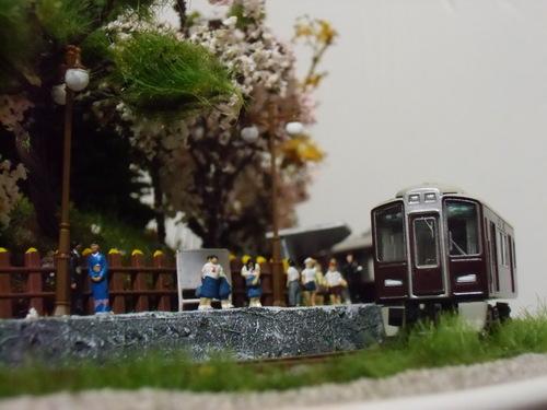 盆ラマ新作「桜と阪急電車」_f0227828_2214499.jpg