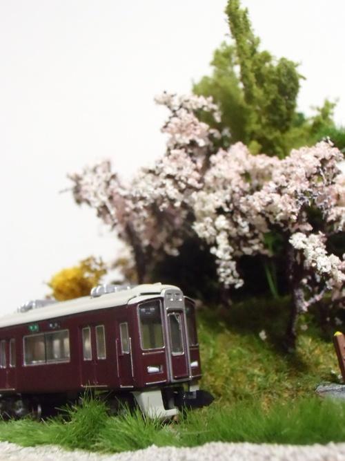 盆ラマ新作「桜と阪急電車」_f0227828_2214829.jpg