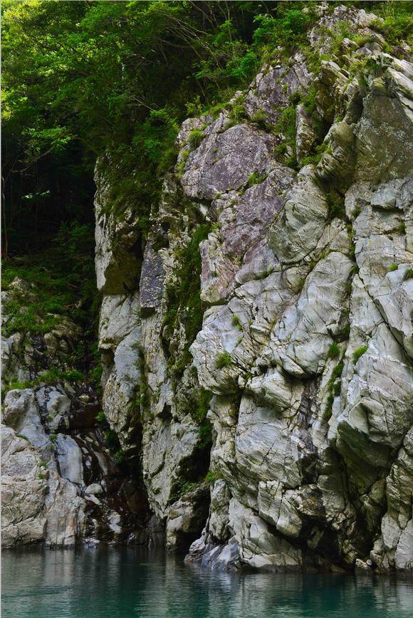 大歩危 ③ 遊覧船から奇岩を撮る・・・・・(縦位置編)_d0246136_15504598.jpg