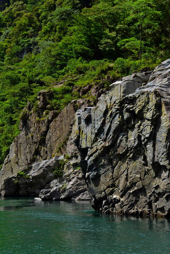 大歩危 ③ 遊覧船から奇岩を撮る・・・・・(縦位置編)_d0246136_1551252.jpg