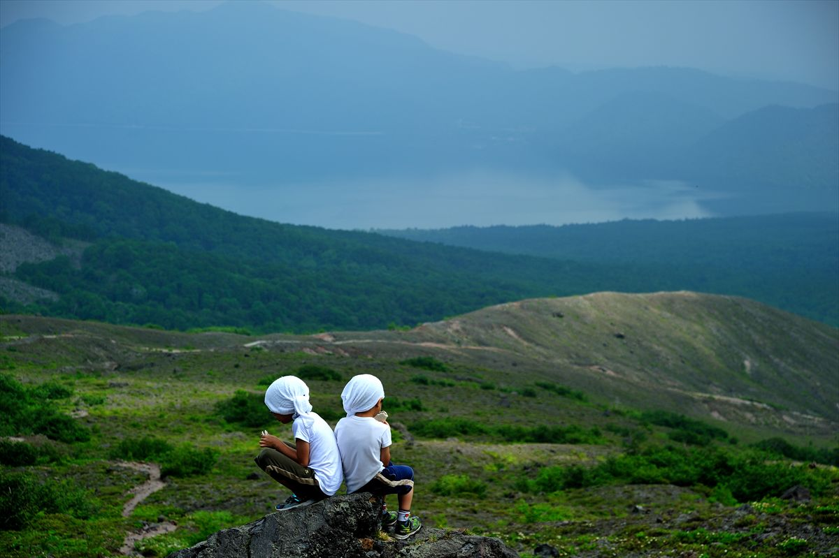 息子たちと再び樽前山へ~前回通らなかったルートを歩く 2013.7.7_a0145819_21594173.jpg