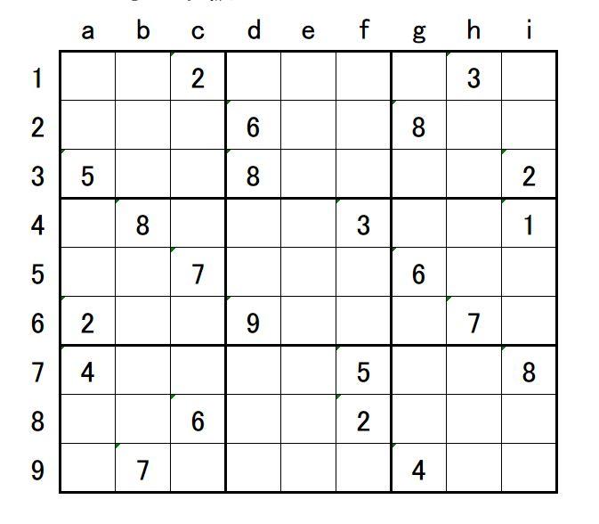数 独 中級 中級テクニック|数独の解き方|数独パズル