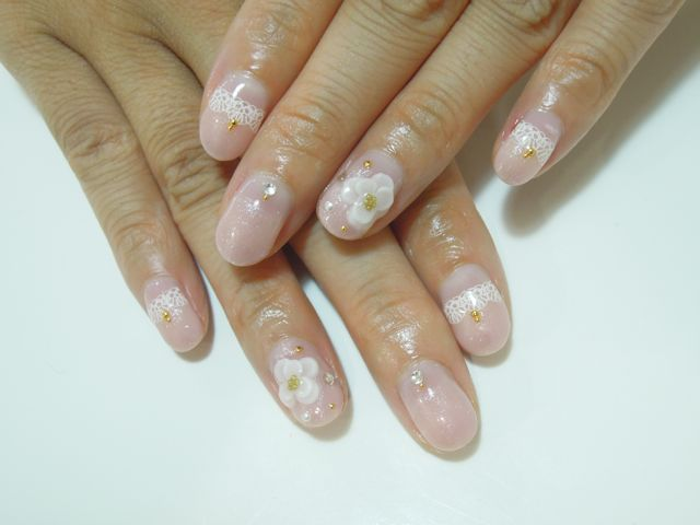 Pink Flower Nail_a0239065_14141835.jpg