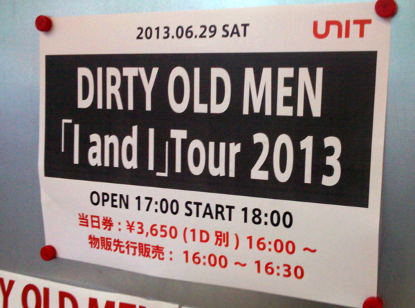 DIRTY OLD MEN 「I and I」ツアーファイナル_b0091544_15221552.jpg