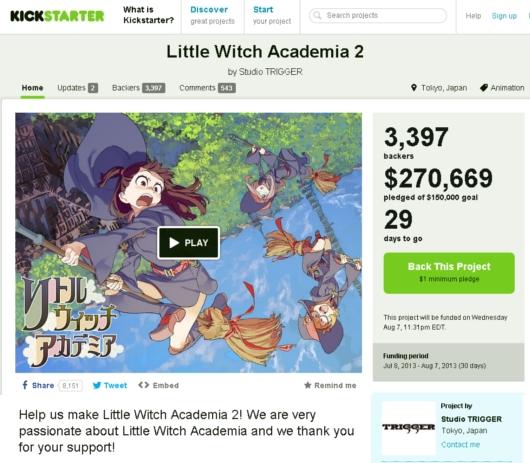 日本のアニメ「リトルウィッチアカデミア」がキック・スターターで資金集めに大成功中_b0007805_12114174.jpg