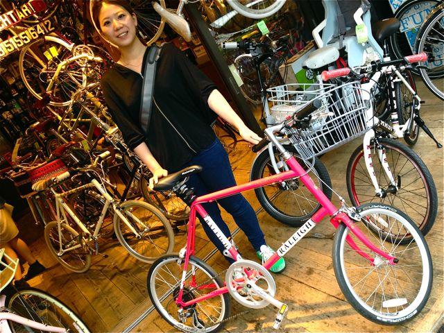 今日のバイシクルガール ☆二本立て☆ 自転車 女子 RALEIGH JAMIS_b0212032_21174282.jpg