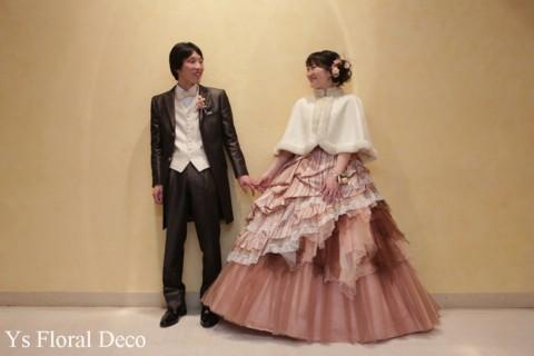 ニュアンスピンクのドレスにあわせるフラワーアクセサリー_b0113510_13162872.jpg