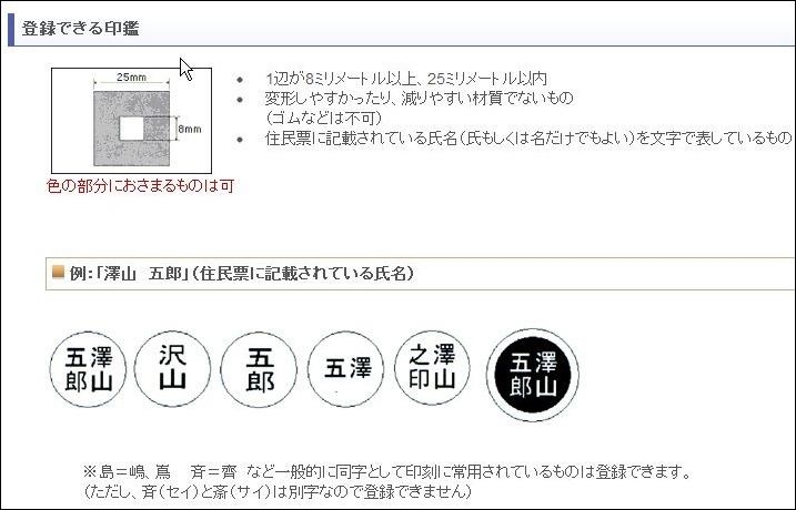 印鑑登録するのに戸籍と一致していない漢字でも登録できるか、はんこ屋さん21と軽い口論。_b0024832_20213146.jpg