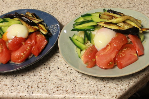 茄子と冷麺_e0201009_081562.jpg