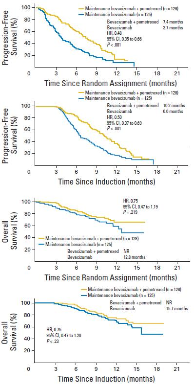 AVAPERL試験:ベバシズマブ+ペメトレキセドによる維持療法はベバシズマブ単独維持療法よりPFS延長_e0156318_22545100.jpg