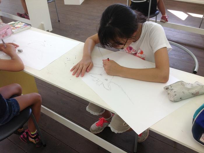 高柳小アートクラブ  山羊さんを描く_c0267580_125101.jpg