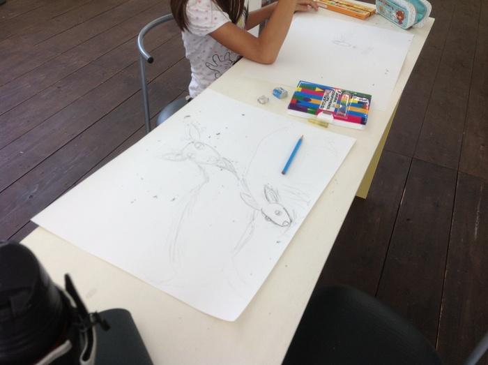 高柳小アートクラブ  山羊さんを描く_c0267580_23122649.jpg