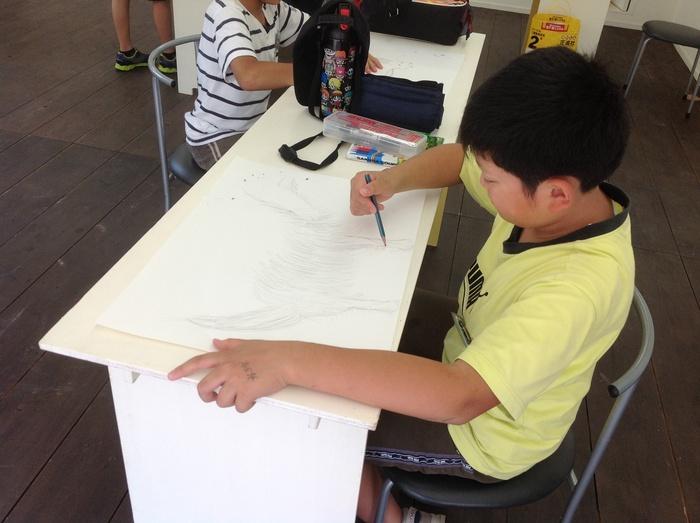 高柳小アートクラブ  山羊さんを描く_c0267580_2313512.jpg
