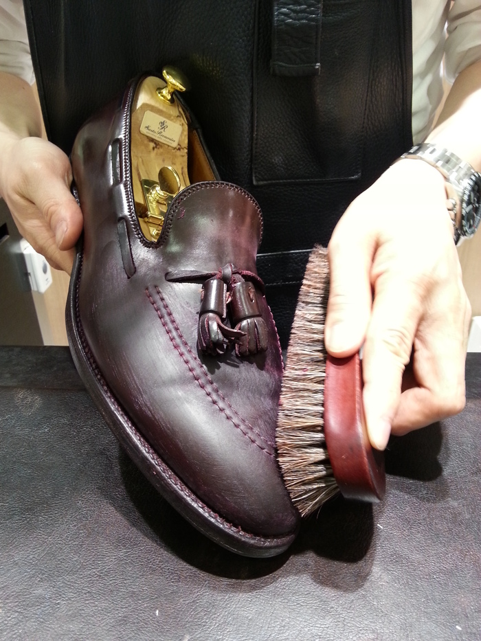 コードバン靴の基本的なケア_b0226322_19152948.jpg