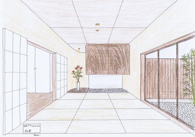 『プールサイドの家』 イメージスケッチ_e0197748_1357318.jpg