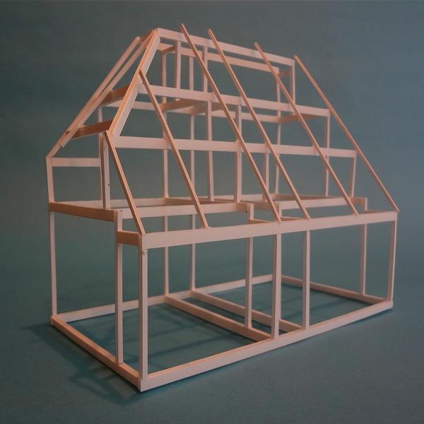 「池之端の家」軸組模型_f0230666_163361.jpg