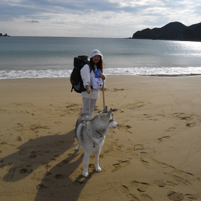 Memory of the second pilgrimage with husky HANA_c0049299_16175944.jpg