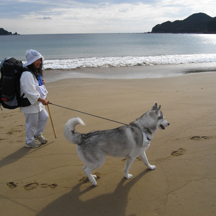 Memory of the second pilgrimage with husky HANA_c0049299_16181427.jpg