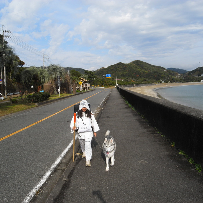 Memory of the second pilgrimage with husky HANA_c0049299_16333883.jpg