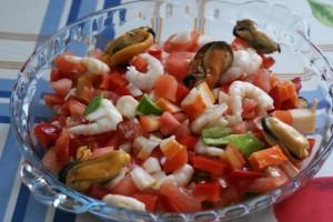 7月の料理「瀬戸内の魚介のサルピコン」_d0177560_16364584.jpg