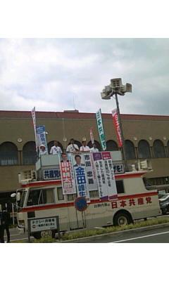 JR宝塚駅前・・・市田書記局長のお話に耳を傾ける 0^-^0_f0061067_11151227.jpg