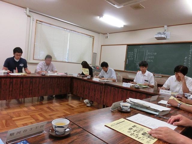 避難所解放エリアを確認 吉原高校の「防災教育推進のための連絡会議」_f0141310_7433280.jpg