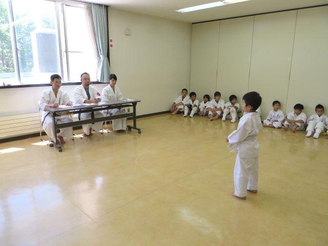 日曜空手 新琴似教室昇級審査会_c0118332_1350385.jpg