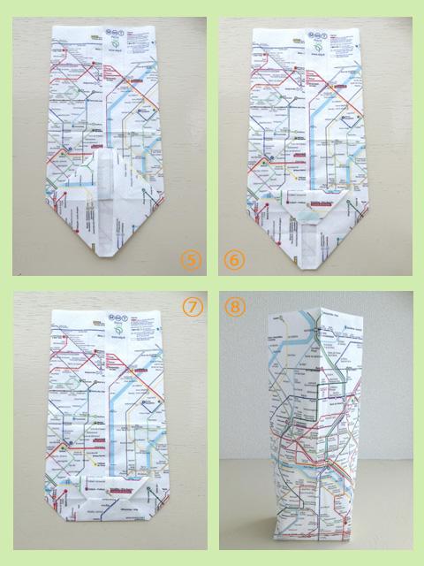 ◆ペーパーナプキンで簡単マチあり袋を作る_f0251032_18155153.jpg