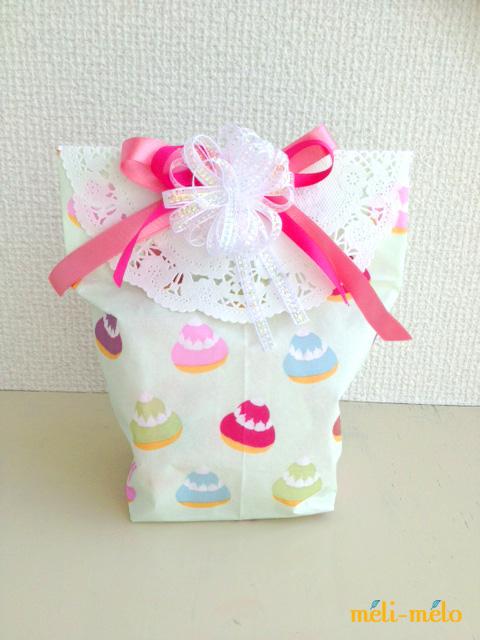 ◆ペーパーナプキンで簡単マチあり袋を作る_f0251032_18221527.jpg