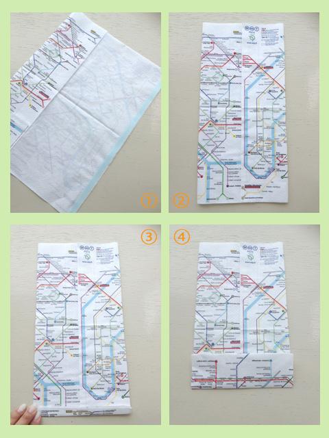 ◆ペーパーナプキンで簡単マチあり袋を作る_f0251032_1884031.jpg
