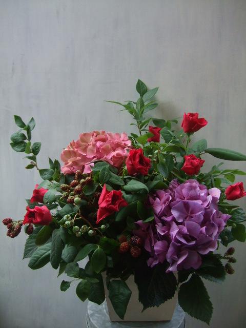 オークリーフ(青木園芸の紫陽花を使って・・)_f0049672_1358757.jpg