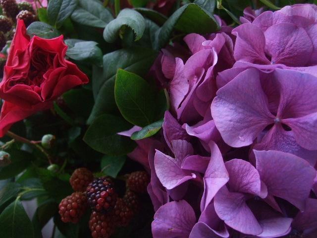オークリーフ(青木園芸の紫陽花を使って・・)_f0049672_13592830.jpg