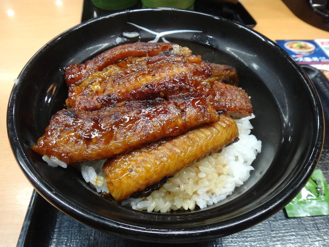吉野家!の、二枚盛り鰻丼!食べました~!ぜいたく、ぜいたく~!_d0060693_192274.jpg