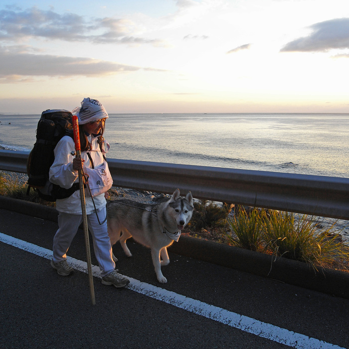 Memory of the second pilgrimage with husky HANA_c0049299_9571191.jpg