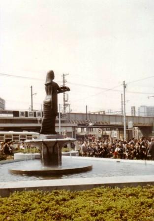 昔のお仕事10(昭和49年高田馬場駅前平和の女神像)_c0251346_17344874.jpg