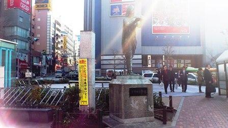 昔のお仕事10(昭和49年高田馬場駅前平和の女神像)_c0251346_17364188.jpg