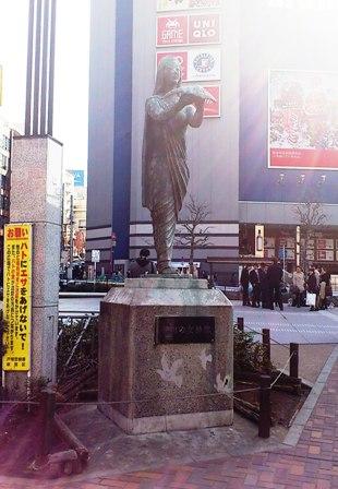 昔のお仕事10(昭和49年高田馬場駅前平和の女神像)_c0251346_17372510.jpg