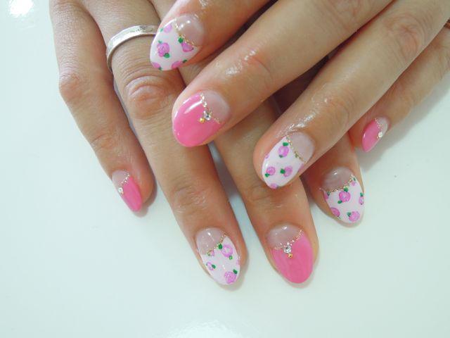 Pink Flower Nail_a0239065_17225844.jpg