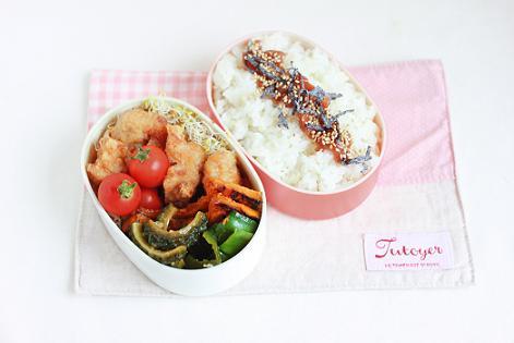 7月24日 夏野菜の焼き浸し弁当と京菓子司 満月の阿闍梨餅のこと♪_a0154192_1494330.jpg