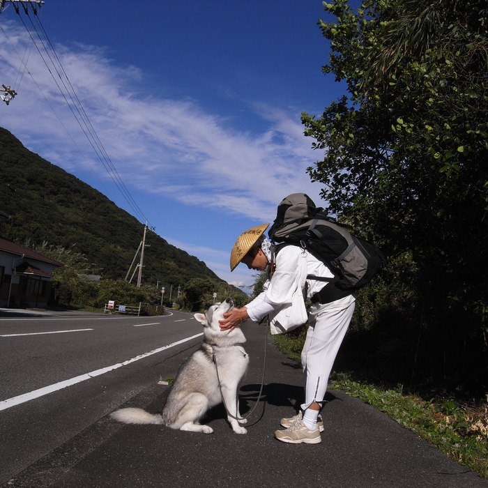 Memory of the second pilgrimage with husky HANA_c0049299_11143010.jpg