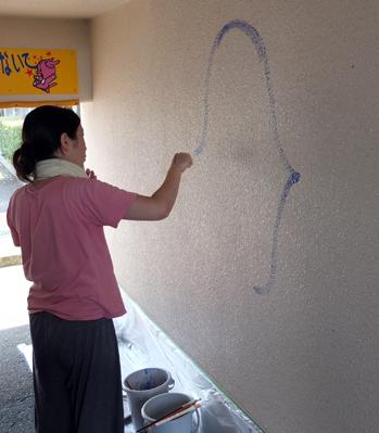 壁画を描こう!「3びきのかめ・1まんねんのぼうけん」①_f0247351_7111255.jpg