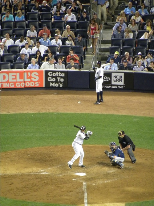 Yankee Stadium にてヤンキース対レイズ戦を観戦。イチロー無安打、チームも大敗(T T)。_e0094804_1734228.jpg