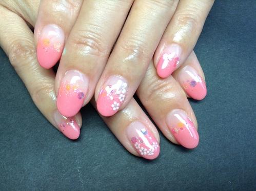ピンク小花ネイル♪_c0294909_13321273.jpg