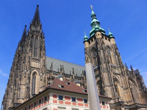 中欧家族旅行2012年08月-第九日目-チェコ・プラハ、プラハ城(III)、聖ヴィート大聖堂鐘楼とプラハの眺め_c0153302_15455351.jpg