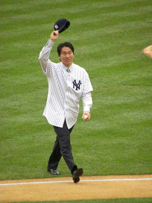 ヤンキースタジアム、松井選手の引退セレモニーに行ってきました。_e0094804_182052.jpg