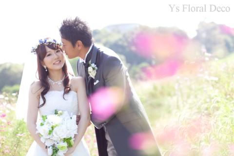 青いお花の花冠 ロケーション撮影に_b0113510_15411675.jpg