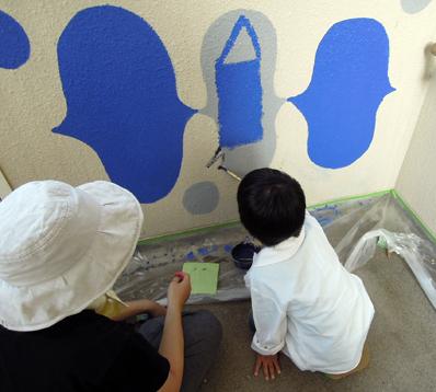 壁画を描こう!「3びきのかめ・1まんねんのぼうけん」③_f0247351_7125352.jpg