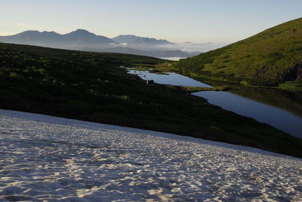 2013年7月 July 2013 大雪トムラウシ山系縦走 Trekking in Taisetsu (Tomurausi) Mountains_c0219616_1559941.jpg