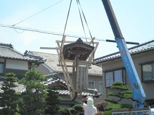 数寄屋門の修理開始_b0232198_16461794.jpg